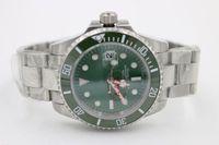 Wholesale Dive Sapphire - New Luxury Men watch Automatic Movement Men's Stainless Steel Green Dial Sapphire Ceramic Bezel Original Clasp wristwatch dive Men watches