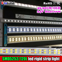 45-50LM / led super luminoso barra luminosa SMD5252 24 v led striscia rigida Pubblicità Light Box Strip Light Bar Cabinet Lighting 2016 nuovo arrivo 100m