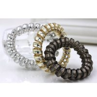 Wholesale Telephone Wire Hair Rubber Bands - The new wire telephone line to FS00119 gold ring girls