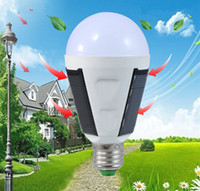 Wholesale Emergency Charge Solar - 2017 Hot solar energy emergency bulb charging bulb LED E27 LED solar lights outdoor emergency light bulbs