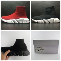 Wholesale Slip Shoes Sport - Luxury Sock Shoe Speed Trainer Running Shoes High Quality Sneakers Speed Trainer Sock Race Runners black Shoes men and women Sports Shoes