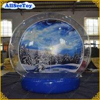 géant gonflable noël achat en gros de-Globe de neige de taille humaine gonflable de livraison rapide, globe de neige géant, Noël Inflatables, globe de neige de photo pour des événements
