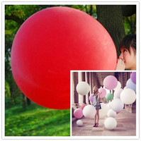 Wholesale Giant Latex Free Balloons - 25pcs lot 36 Inch Super Big Large Wedding Decoration Birthday Party Ballons Thickening Multicolor Latex giant huge Balloon free ship