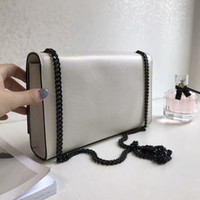 Wholesale Top Quality Leather Wholesale Handbags - luxury women classic flap shouder BAG goatskin hardware handbag genuine leather bag top quality real sheepskin black chain