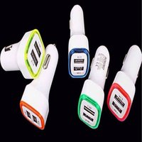 Wholesale Light Apple Car Charger - LED Light dual usb car charger USB 5V 2.1A+1A for Iphone 4 5 6 7 for ipad for samsung