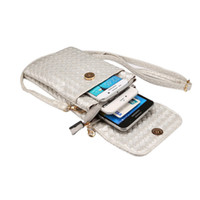 Wholesale Iphone Cross Body Bag - 5.7inch Universal Phone Pouch Cross-body Shoulder Bag Clutch Purse Wallet Case for iphone 7 plus Galaxy S8 Women Wallet case
