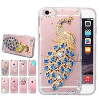 Wholesale Rhinestone 3d Case - Skylet Bling Bling Case For Samsung S7 Diamond 3D Handmade Rhinestone Case Crystal Glitter Power For Iphone 6 Case With OPP Package