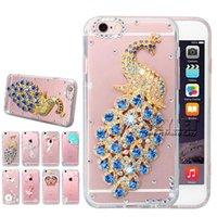 Wholesale Iphone Cases Rhinestones Handmade - Skylet Bling Bling Case For Samsung S7 Diamond 3D Handmade Rhinestone Case Crystal Glitter Power For Iphone 6 Case With OPP Package