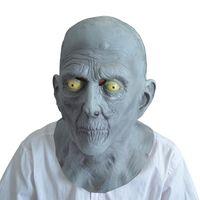 Wholesale Old Man Latex Mask - Wholesale- Halloween Terror Party Mask Adult Old Man Elderly Bald Latex Mask Fancy Dress