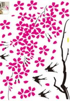 Wholesale large decorative wall posters for sale - Group buy New Design Home Wall Stickers D Tree Plum Decals Decorative Poster for Kids Rooms Adhesive To Wall Decoration Removable with Decals