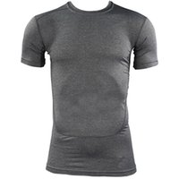 Wholesale Quick Dry T Shirts Wholesale - Wholesale- Compression Quick Dry T-shirt Base Layer Gear Tights Bodybuilding Short Sleeve T Shirt