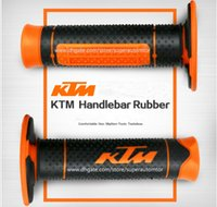 "Wholesale Ktm Accessories - 7 8"" 22mm Motorcycle Hand Grips Handle Rubber Bar Gel Grip Modified Accessories for KTM Duke 125 200 390 690 990 EXC SMC"