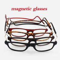 Wholesale Folding Reading - New fashion folding magnetic reading glasses men and women high resolution glasses men and women ordinary glasses +1.0 +1.5 +2.0 +2.5 +3 +3.