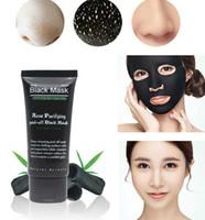 ingrosso maschera nera maschera nera-50pcs maschera nera maschera facciale naso rimozione di comedone peeling off testa nera trattamenti acne cura del viso aspirazione