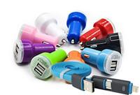 xperia z1 telefonu toptan satış-Wholesale- 2-1 veri kablosu + 2.0a mikro otomatik araç- şarj sony xperia z3 kompakt z5 z4 z1 kompakt m4 qqua m2 diğer telefonlar usb araç şarj