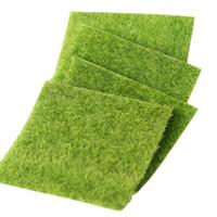 Wholesale fairy moss - DIY Mini Fairy Garden Simulation Plants Artificial Fake Moss Decorative Lawn Turf Green Grass Micro Landscape Decoration 15x15cm