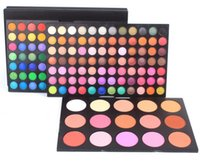 Wholesale Eyeshadow 183 Colors - Factory Direct!24 Pieces Lot New 183 colors combo makeup palette set!168 colors eyeshadow & 15 colors blush!