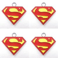Wholesale Superman T - New Cartoon Superman Charm Pendants DIY Jewelry Makin T-078