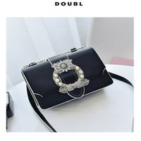 Wholesale Pearl Handbags - 2017 New Euramerican Fashion Bags ladies handbags single shoulder bag cross body bags pearl & metal decoration vintage style flap shape