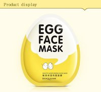 Wholesale Eggs Control - Eggs Face Mask Moist Hydrating Shrink Pore Brightens Whitening Skin Care Facial Mask Sheet Beauty Cosmetics