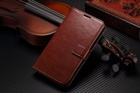 Wholesale Leather Case Xperia C - Vintage PU Leather Case for SONY Xperia C S39H C2305 Luxury Wallet with Flip Stand Style Phone Bag Cover Black Brown