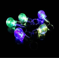 Wholesale Mini Fun Led - 50pcs New Silver Bright Creative LED Flash Mini Bulb Design Clear Lamp Fun Toy YH302