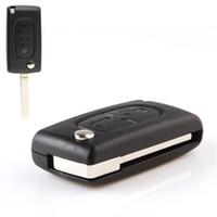 id46 chip peugeot al por mayor-A estrenar 433 MHz 2 botones de la llave a distancia con el chip ID46 para Peugeot 207 307 308 AUP_405