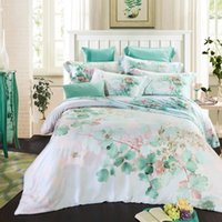 Wholesale King Duvet Set Paisley - Wholesale-2016 Summer Queen King Tencel Silk Bed Set Tencel Bedding Set Boho Style Bedding Moroccan Paisley Duvet Cover Set 4 PCS