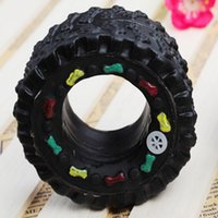 Wholesale Toy Rubber Tyres - Black Tyre Shape Pet Toy Dog Chew Elastic Toys Soft Plastic Pet Cat Sound Educational Toys Mini Rubber Chew Middle Size 20PCS