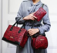 Wholesale Large Piece Artwork - sales brand new bag retro woven leather six piece mother bag fashion color strap woman handbag leather shoulder bag women with large capacit