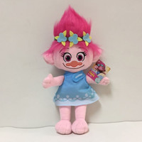 23CM Trolls brinquedo de pelúcia Poppy Branch Dream Works Dolls Stuffed Cartoon A Boa Sorte Presentes de Natal Magic Fairy Hair Wizard
