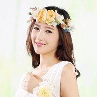 Wholesale Vintage White Flower Garland - flower garlands vintage flower garlands bridal hair accessories bridal headpieces wedding headdress for bride dress headdress accessories