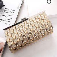 Wholesale Black Dance Bag - 2017 new diamond women handle bag the United States nightclub dance with drill bag rhinestone tide girl dinner bag free Shipping