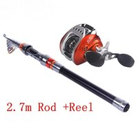 Wholesale Telescopic Fishing Rod Combo - 2.4m 2.7m 3.0m 3.6m Telescopic Fishing Pole Combo Carbon Fishing Rod Reel Lure Fishing Spinning Rod Fish Tackle Set