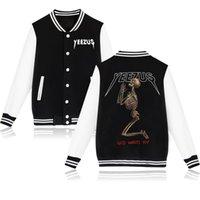 Wholesale Sweatshirt Pocket Pattern - Men Tour Baseball Jacket High-quality Kanye West Hoodie Fashion Skull Clothing Sports Uniform Religion Sweatshirt Baseball jackets