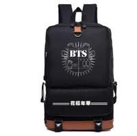 Wholesale Korean Multi Backpack - KPOP Bts bangtan boys jimin suga jhope nylon Fashion Schoolbag Backpack Satchel bag men women Satchel bag Casual Korean version of backpack