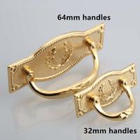 Wholesale handle 64mm resale online - 32mm mm modern simple fashion furniture handles pulls knobs quot gold drawer cbinet dresser knobs pulls handles
