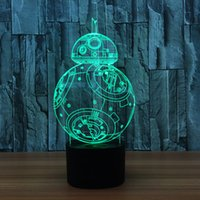 Wholesale Robot Table Lamp - Robot table lamp creative lighting 3d night light decorative lights creative entertainment equipment USB Charging AA Battery