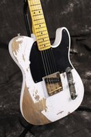 Wholesale Ash Body - Legendary 1954 Jeff Beck Yardbirds Esquire Tribute Relic Vintage White Tele Caster Electric Guitar Ash Body Masterbuilt by Todd Krause