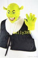 Wholesale Shrek Mascot Costumes - new Shrek monster mascot high quality cartoon costume Shrek adult size fancy dress party carnival parade free shipping