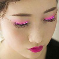 Wholesale Electronic Party - cool eyelashes LED eyelashes best false eyelashes lighted eyelash waterproof fashion Christmas Halloween Nightclub electronic eyelid