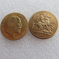 Wholesale Double King - RARE 1906 KING EDWARD VII MATT PROOF GOLD DOUBLE SOVEREIGN Free shipping