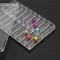 Wholesale Transparent Boxes For Beads - Wholesale-Cymii 18 Grid Transparent Plastic Storage Case Box For Watch Pin Spring Bar Screw Bead Watch Tool Box