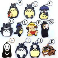 ingrosso figurine totoro-Hot! 20 pz Misto Anime Il Mio Vicino Totoro Figurine Giocattoli Bus Totoro Figuras Portachiavi Ciondolo Portachiavi Design Double sided