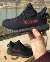 Wholesale Shoes Size 25 - 350 V2 Youth Shoes breds cp9652 size 25-35 kids size small women youth Beluga V2 With Receipt Box Kanye West Running Shoes