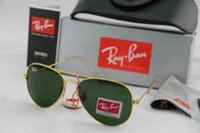 Wholesale Mirror Aviator Mirrored - 2018 Ray 3025 Bans New Vintage Aviator Sunglasses Pilot 58mm 62mm Men Women UV400 Band Polarized BEN Gafas Mirror Sun Glasses with case