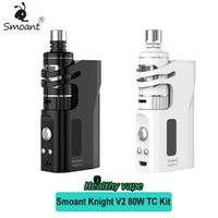 Wholesale Metal Back Magnets - Original Smoant Knight V2 Kit 80W TC Box Mod with 4.5ml Smoant Talos V1 Tank Fit Kanger Coils Magnets Back Cover