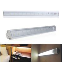 Wholesale Glass Cabinet Light - 2017 fast ship SMD 3528 PIR Motion Sensor LED Bar lighting Under Cabinet Light Lamps For Kitchen Wardrobe Cupboard Closet indoorlight
