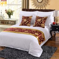 Wholesale Hotel Bedding Sale - 50*180Cm Hot Sale Bed Runner Bedding Set Refreshing Fashion Runners Exquisite Design Bed Runner Perfect For Hotel Room Hotel Supplies Red