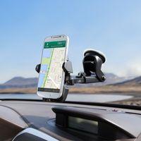 регулируемый держатель gps оптовых-Универсальный мобильный телефон автомобиля держатель 360 градусов регулируемая окно лобовое стекло приборной панели держатель стенд для всех мобильных телефонов GPS держатели